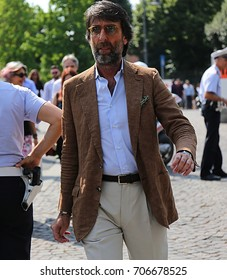 FLORENCE- 14 June 2017 Andrea Luparelli on the street during the Pitti
