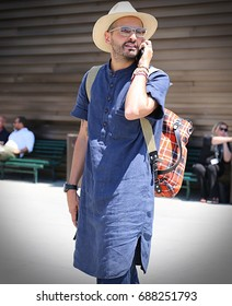 FLORENCE- 14 June 2017 Man on the street during the Pitti