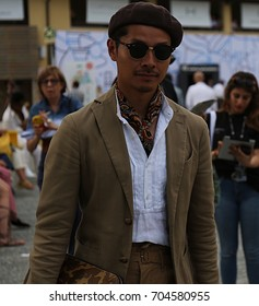 FLORENCE- 15 June 2017 Man on the street during the Pitti