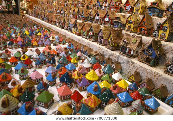 Little Christmas Italy.Florence 2 December 2017 Christmas Ornaments Stock Photo