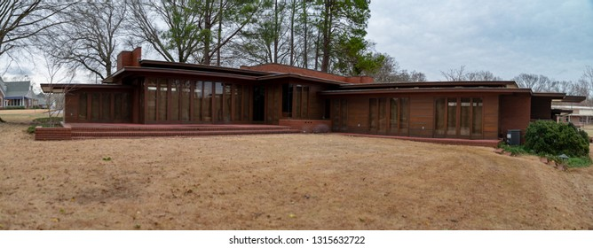 FLORENCE, AL - 12 Feb 2019- Built in 1940, the Rosenbaum House, designed by American architect Frank Lloyd Wright for Stanley and Mildred Rosenbaum, is an example of Usonian house concept.