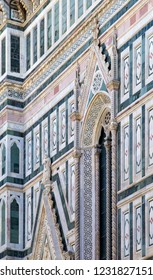 Façade of the Florence Cathedral (Cattedrale di Santa Maria del Fiore), Florence, Italy