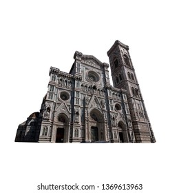 Florence Cathedral, formally the Cattedrale di Santa Maria del Fiore (or Duomo di Firenze) isolated on white background