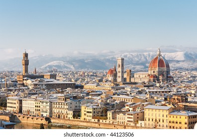 Florence covered in snow