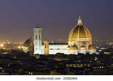 Florence Dome at dusk