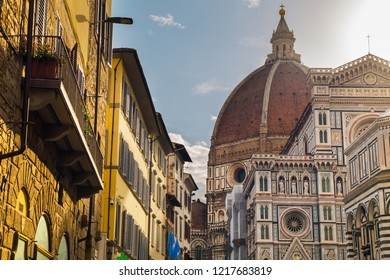 Florence Duomo. Basilica di Santa Maria del Fiore (Basilica of Saint Mary of the Flower) in Florence, Italy