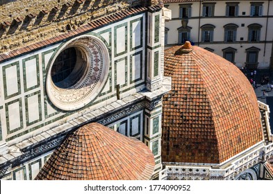 Florence Duomo. Basilica di Santa Maria del Fiore (Basilica of Saint Mary of the Flower) in Florence, Italy. Florence Duomo is one of main landmarks in Florence.