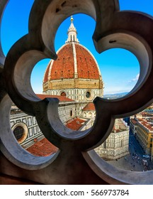 Florence Duomo. Basilica di Santa Maria del Fiore (Basilica of Saint Mary of the Flower) in Florence, Italy. Florence Duomo is one of the main landmarks in Florence, Italy