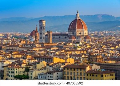 Florence Duomo and city skyline, Florence, Italy
