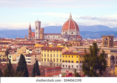 Florence Duomo as seen from Michelangelo hill