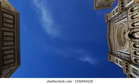 Florence, Firenze / Italy - September 20 2018: In Duomo square, Firenze, everyday you can find a new perspective to enjoy beauty.