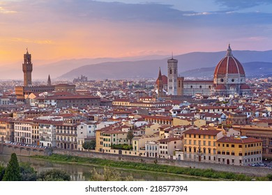 Florence. Image of Florence, Italy during beautiful sunset.