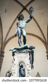 Florence, ITALY / 06.20.2016: Perseus with the Head of Medusa