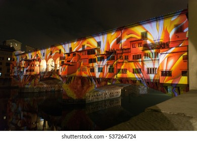 FLORENCE, ITALY - 12 DECEMBER 2016 - Artistic performance on Ponte Vecchio on December 12, 2016 in Florence (Italy)