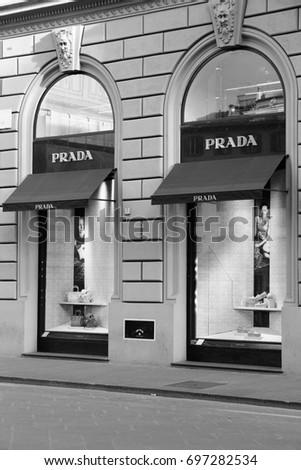 5abc13f5a3782 FLORENCE ITALY APRIL 30 2015 Prada Stock Photo (Edit Now) 697282534 ...