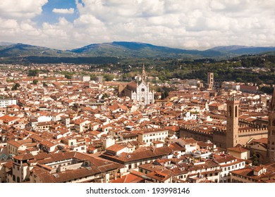Florence, Italy, Florence Cathedral, Brunnaleski dome, cityscape of Florence from Giotto tower