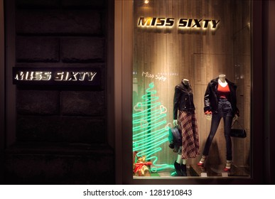 FLORENCE, ITALY - DEC ,12: MISS SIXTY store in Florence, one of the most luxurious shopping district in the world, in Florence, italy, 29 december 2016
