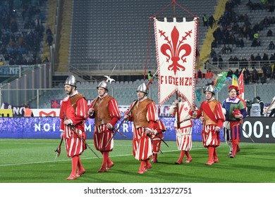 Florence Italy, February 9th, 2019: football Serie A match between Fiorentina vs Napoli at Artemio Franchi Stadium.In the pic: Florentine historical football