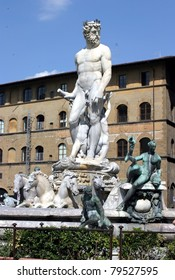 Florence, Italy, fountain of Neptune