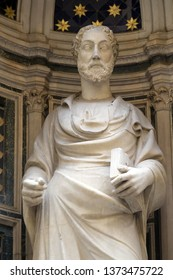 FLORENCE, ITALY - JANUARY 09, 2019: Saint James by Niccolo di Piero Lamberti, Orsanmichele Church in Florence, Tuscany, Italy