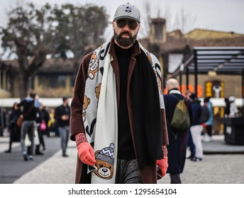FLORENCE, Italy- January 8 2019: Raimondo Rossi on the street during the Pitti 95.