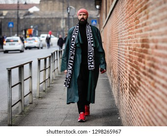FLORENCE, Italy- January 9 2019: Raimondo Rossi on the street during the Pitti 95.