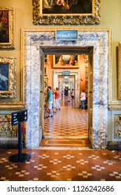 Florence, Italy - July, 1, 2018: interior of a Pitty palace in Florence