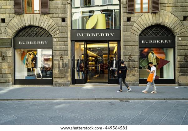 Florence Italy Jun 30 2016entrance Burberry Stock Photo