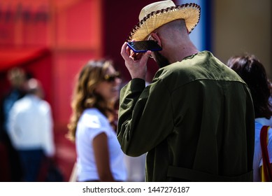 FLORENCE, Italy- June 11 2019: Raimondo Rossi on the street during the Pitti 96.