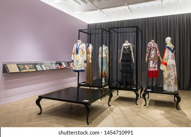 Florence, Italy, June 11 2019, brand new set for the Gucci fashion museum
