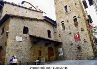 FLORENCE, ITALY - June, 2017: Dante's House in Florence, Italy.