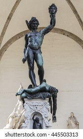 FLORENCE, ITALY - JUNE 24, 2016: Perseus with the Head of Medusa on June 24, 2016 in Florence