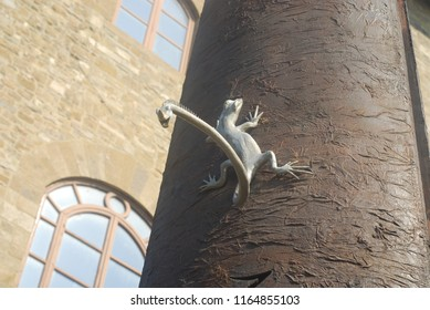 Florence, Italy - Lizzard with two heads - August 2018