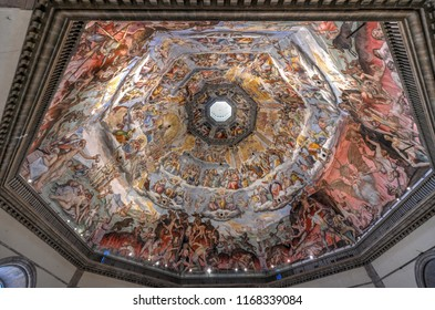Florence, Italy - March 22, 2018: Florence Duomo. Basilica di Santa Maria del Fiore (Basilica of Saint Mary of the Flower) in Florence, Italy.