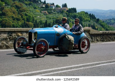 FLORENCE, ITALY - MAY 19: AMILCAR CGSS along Via Bolognese during the 1000 miles on May 19, 2012 in Florence, Italy