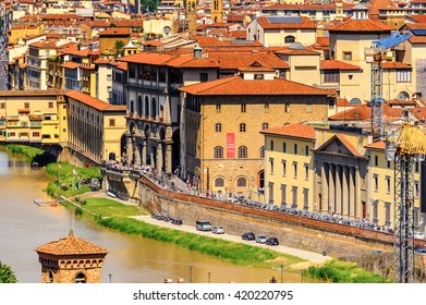 FLORENCE, ITALY - MAY 6, 2016: Historic Centre of Florence, Italy.  UNESCO World Heriage.