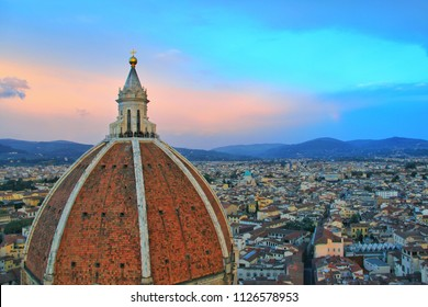 Florence, Italy - November 11,2013: Florence Duomo. Basilica di Santa Maria del Fiore (Basilica of Saint Mary of the Flower) in Florence.