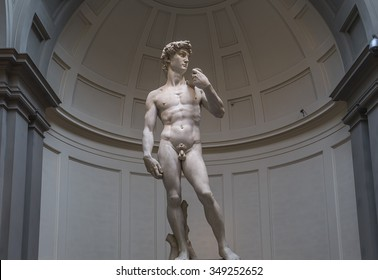 FLORENCE, ITALY, OCTOBER 24, 2015 : Michelangelo David statue in Accademia, october 24, 2015 in Florence, Italy