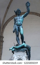 FLORENCE, ITALY - OCTOBER 28, 2018: Perseus with the Head of Medusa by Benvenuto Cellini