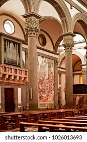 FLORENCE, ITALY - SEPTEMBER 16, 2017: The Basilica di San Lorenzo in Florance in Italy.