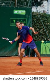 FLORENCE, Italy - September 28th 2019: Philipp Kohlschreiber during the ATP Challenger Firenze Tennis Cup semifinal