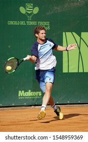FLORENCE, Italy - September 28th 2019: Pedro Sousa during the ATP Challenger Firenze Tennis Cup semifinal