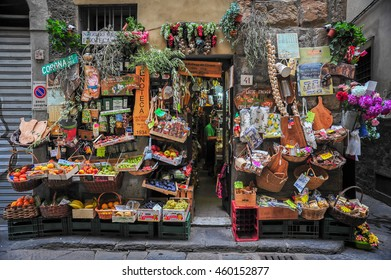 FLORENCE, ITALY - SEPTEMBER 4, 2012: A local storefront, Florence, Italy