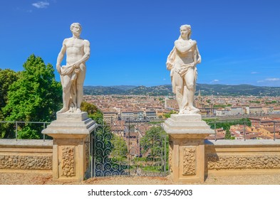 Florence, Italy. Statues in Bardini Gardens in Florence. Taken on 2017-05-22