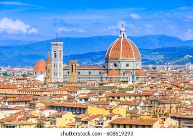 Florence, Italy. View of the old town from Piazzale Michelangelo.