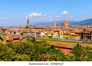 Florence, Italy. View from the Piazzetta Michelangelo.