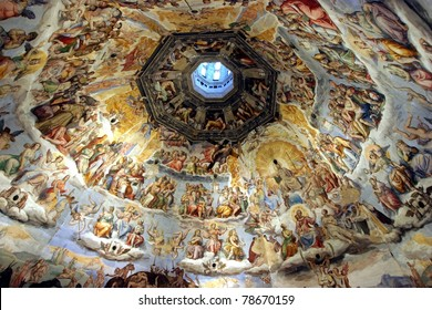 Florence, Italy, the wonderful masterpiece of The Judgment Day, inside the Dome