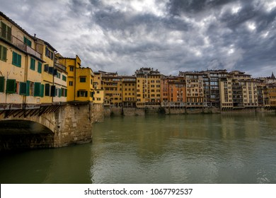 Florence Ponte Vecchio and Arno river in Tuscany