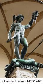 Florence - Signoria Square - Perseus with the Head of Medusa - Loggia dell'Orcagna