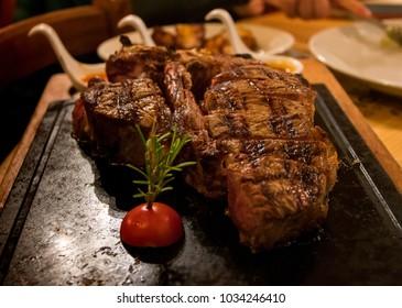 Florence, Tuscany / Italy - January 5, 2018:  florentine steak